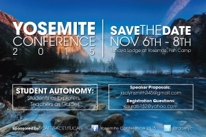 Yosemite Save the Date Flyer